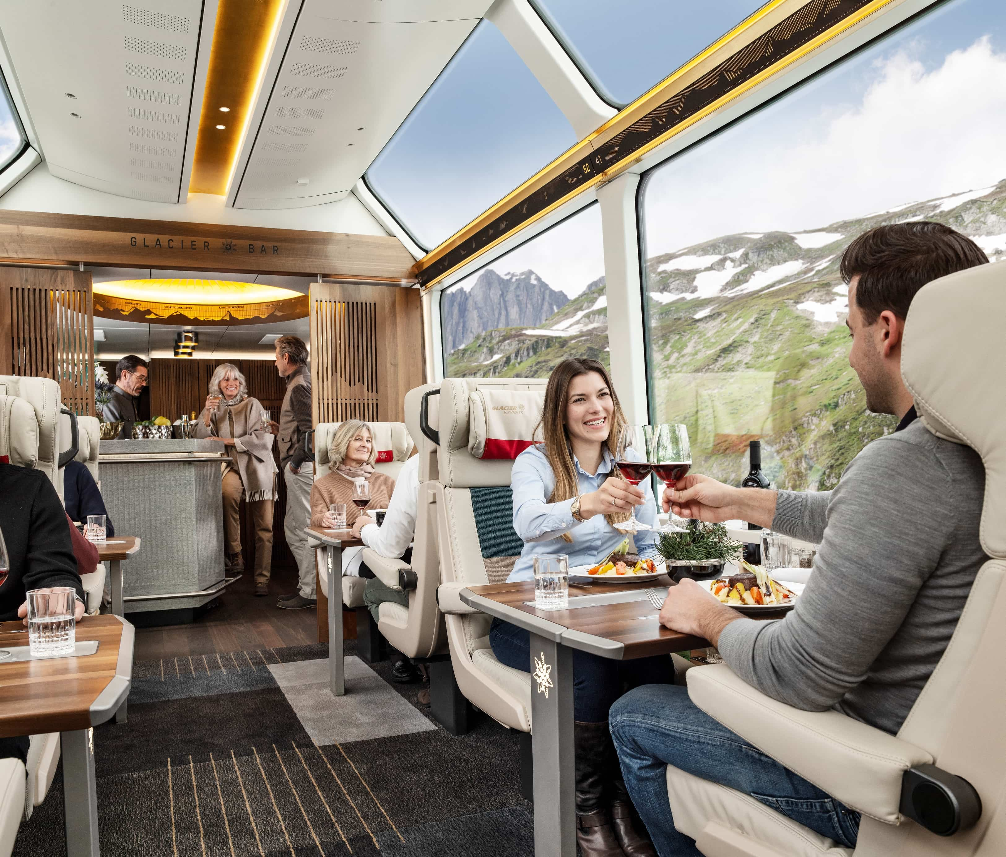 Take a ride on the Glacier Express in Excellence Class