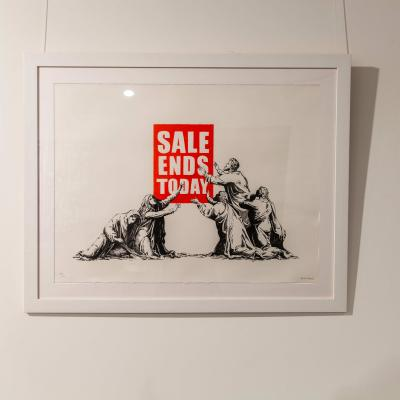 Banksy, Sale Ends exhibited at HOFA Gallery