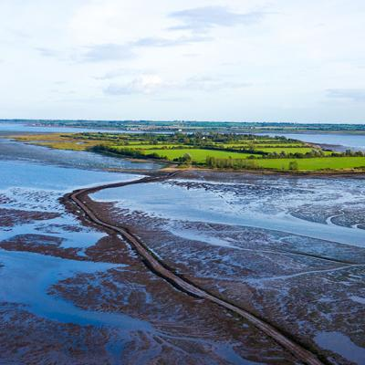 Osea Island features 400 acres of beautiful countryside and four miles of private beaches and coastline.