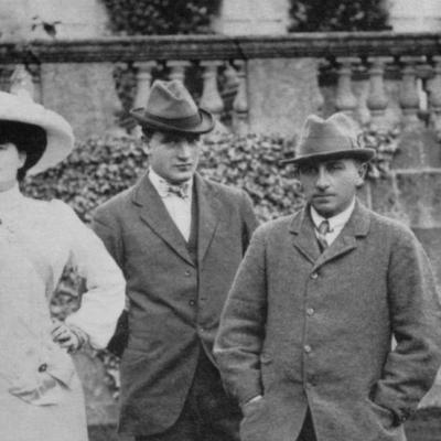 Sir Henry and Lady Alda Hoare with their son, Henry, who later died in battle. Photo: Courtesy National Trust